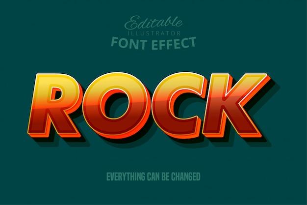 Testo rock, stile di testo modificabile
