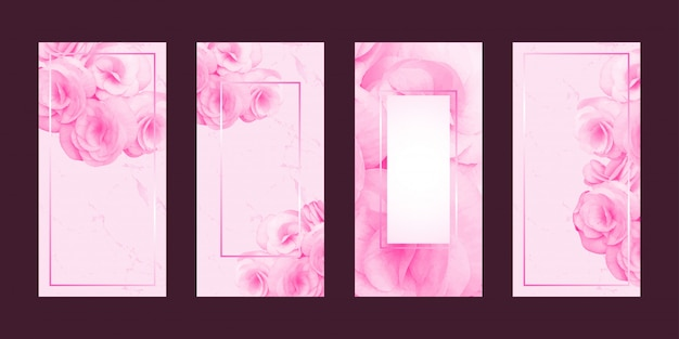 Testo romantico di fiori e cornice