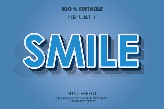 Testo sorriso, effetto carattere modificabile
