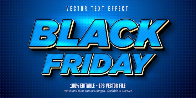 Testo venerdì nero, effetto di testo modificabile