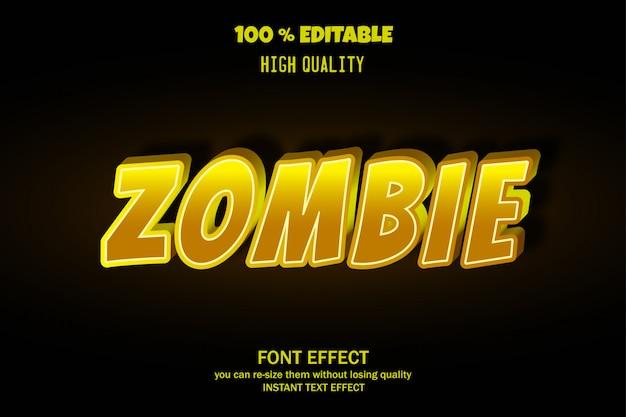 Testo zombi, effetto carattere modificabile