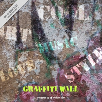 Texture di un muro con graffiti