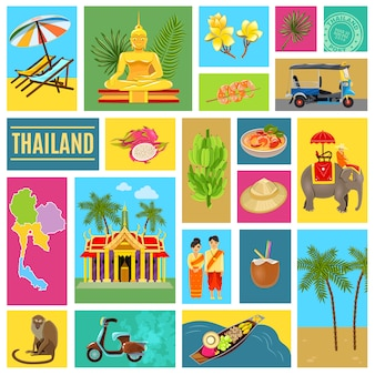 Thailandia piastrellato poster