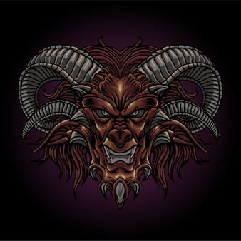 The bad demon head
