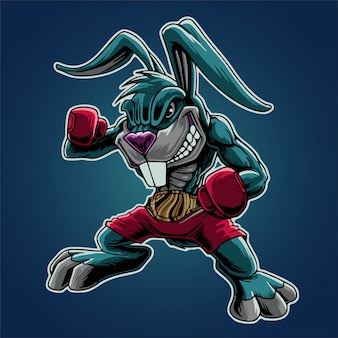 The bunny boxing