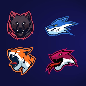 The collection logo esports animal