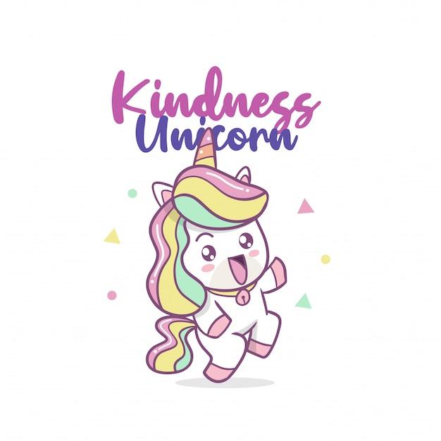 The cute kindness unicorn