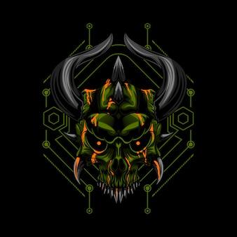 The devil skull evil