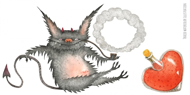 The little furry smoking devil and love poution