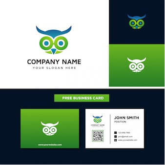 The owl logo templates