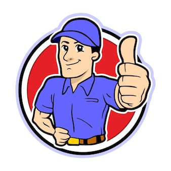 Thumb up man carattere