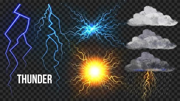 Thunder, lightnigs set