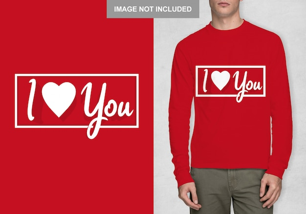 Ti amo modello di camicia