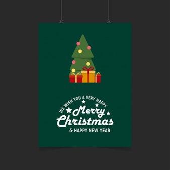 Ti auguriamo un buonissimo buon natale e felice anno nuovo sfondo confezione regalo