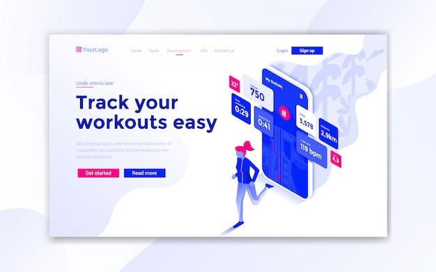 Tieni traccia dei tuoi allenamenti facile landing page