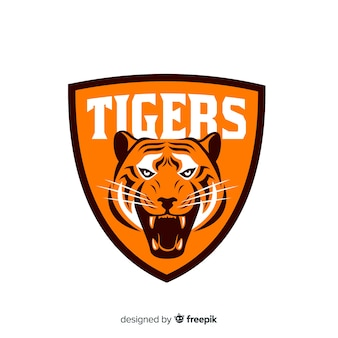 Tiger logo background