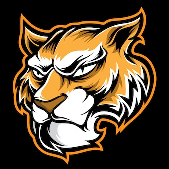 Tiger logo cartoon