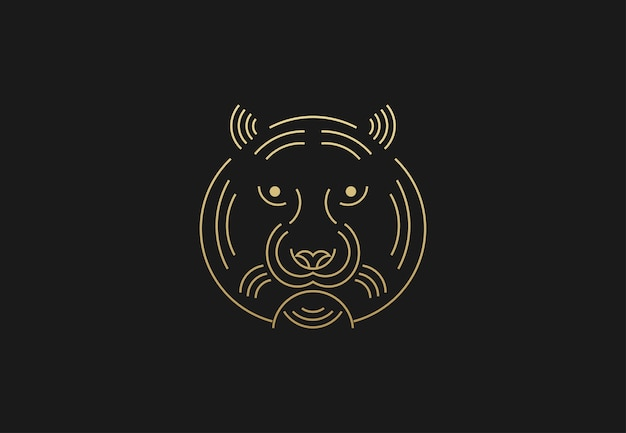 Tiger logo geometrico