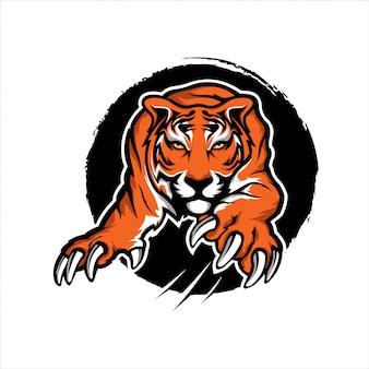 Tiger mascotte sport ilustration