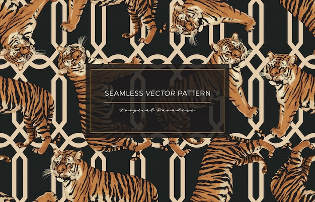 Tiger seamless pattern.