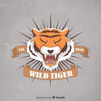 Tigre con sfondo di nastro
