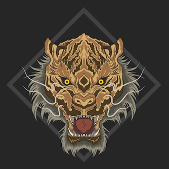 Tigre faccia arrabbiata bestia