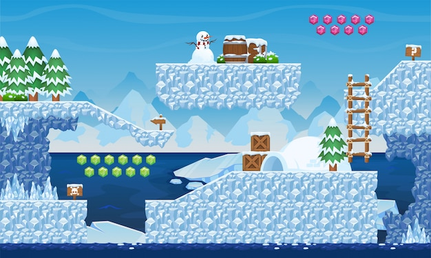 Tileset del gioco del ghiaccio