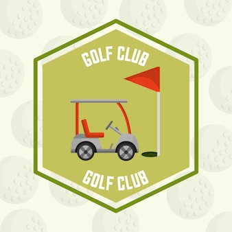Timbro della bandierina rossa dell'automobile del club di golf