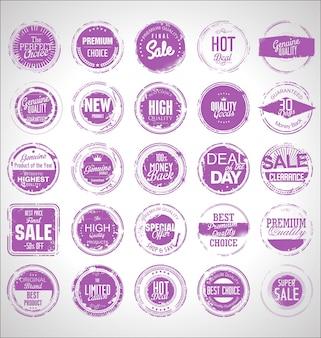 Timbro di gomma di vendita grunge collezione