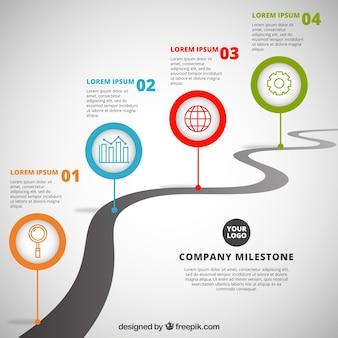 Time line aziendale con stile professionale