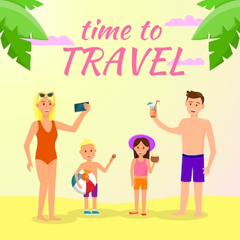 Time to travel square banner
