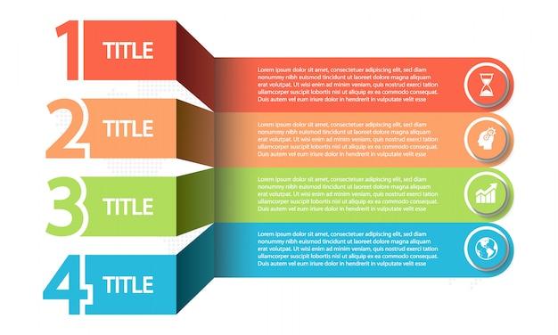 Timeline infografica 4 opzioni,