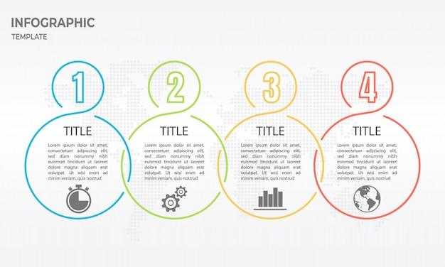 Timeline infografica linea sottile design