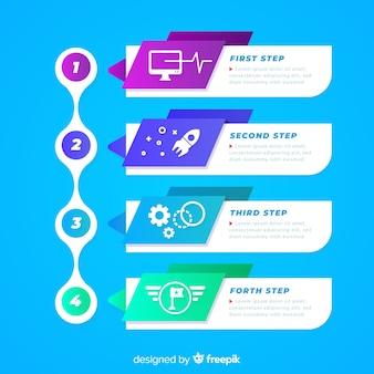 Timeline infografica sfumatura