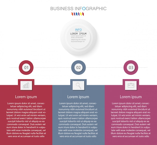 Timeline infographic design element and number options. concetto di business con 3 passaggi
