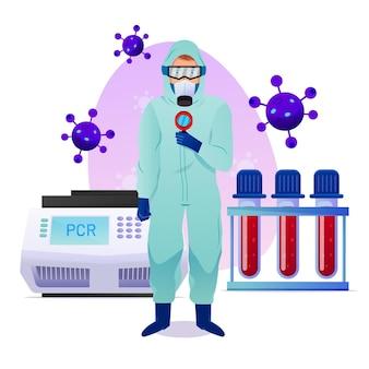 Tipo di concetto di test del coronavirus