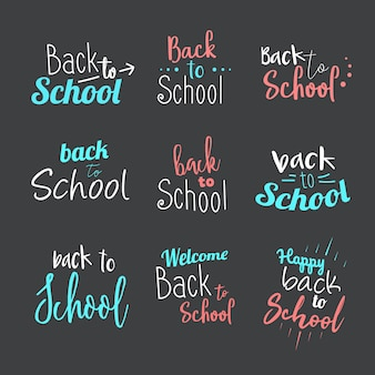 Tipografia back to school