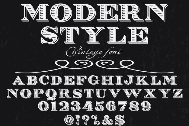 Tipografia carattere tipografico design stile moderno