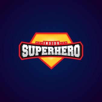 Tipografia completa di super eroe, grafica per t-shirt