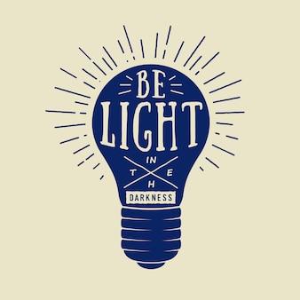 Tipografia con lampada.