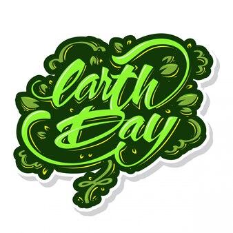 Tipografia della giornata terrestre