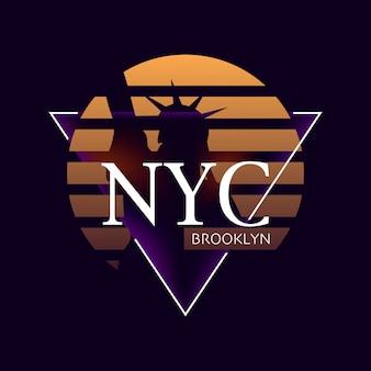 Tipografia di design di new york