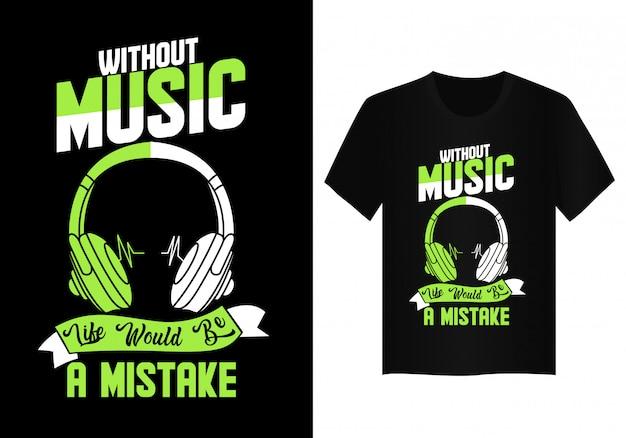 Tipografia di design t shirt musica