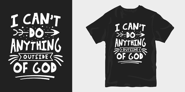 Tipografia di design t-shirt spirituale e religiosa