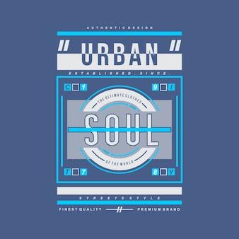 Tipografia di disegno vettoriale grafica moderna urbana
