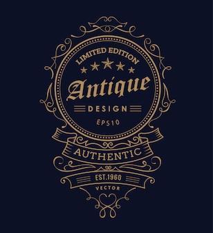 Tipografia di etichetta design occidentale vintage