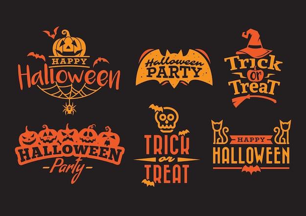 Tipografia di halloween arancione