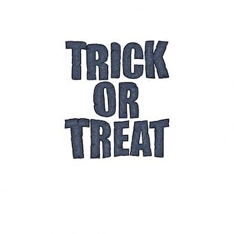 Tipografia di halloween in stile pietra