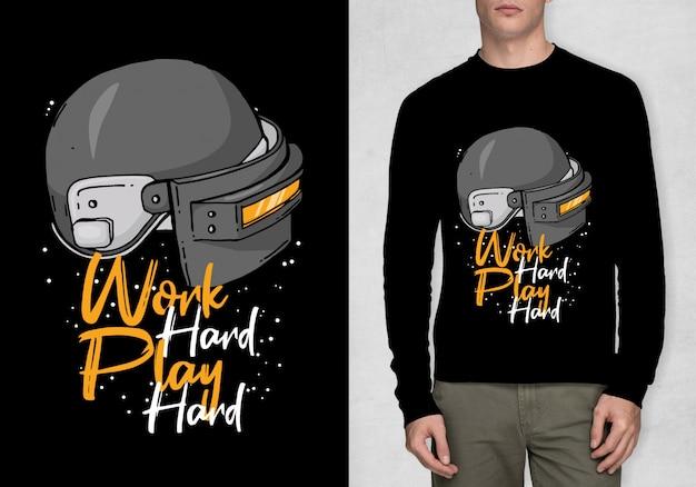 Tipografia di ispirazione per t-shirt