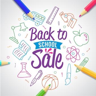 Tipografia di vendita di ritorno a scuola